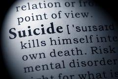Définition de suicide image stock