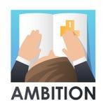 Définition des objectifs et réalisation Illustration plate de vecteur illustration de vecteur
