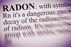 Définition du gaz dangereux de radon - c'est une ma définition personnelle et pas viole sur des autres droites de propriété intel photographie stock