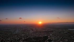 Définition ultra élevée du coucher du soleil 4K de laps de temps d'Istanbul banque de vidéos
