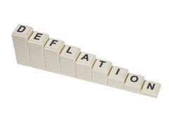 déflation Images libres de droits