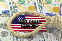 Déflation de l'économie photographie stock libre de droits