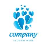 Usines de bleu de logo Photographie stock