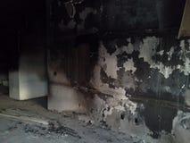 Dégâts causés par le feu photos stock