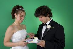 Dégagement de gâteau de mariage premier photos stock