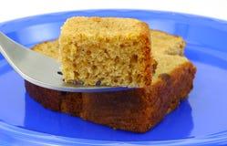 Dégagement de gâteau de raccord en caoutchouc sur la fourchette photos libres de droits