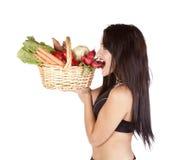 Dégagement de légumes de femme images stock