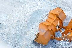 Dégagement de la route de la neige photo stock