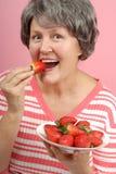 Dégagement parfait de fraise photos stock