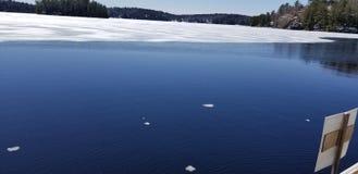 dégel de lac Photos libres de droits
