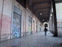 Dégradation urbaine à Rome, Italie image libre de droits