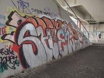Dégradation urbaine des banlieues à Rome photos stock