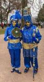 Déguisé couplez - le carnaval vénitien 2014 d'Annecy image stock