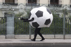 Déguisement de ballon de football Image libre de droits