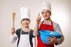 Dégustation de la pâte lisse Image libre de droits
