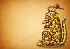 Déité maya de jaguar - balam - prophétie Images libres de droits