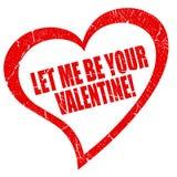 Déjeme ser su tarjeta del día de San Valentín Foto de archivo