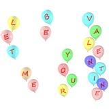 Déjeme ser su tarjeta del día de San Valentín Imagen de archivo libre de regalías