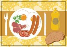 Déjeuner anglais illustration de vecteur