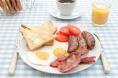 Déjeuner anglais cuit Images libres de droits