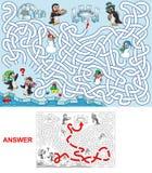 Déjeuner aux pingouins illustration libre de droits