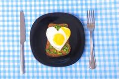 Déjeuner avec amour Image libre de droits