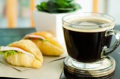 Déjeuner avec du café Image libre de droits