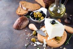 Déjeuner avec du fromage Images libres de droits