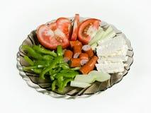 Déjeuner avec du fromage et la saucisse Photographie stock libre de droits