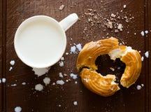 Déjeuner avec du lait photos stock