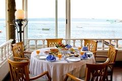 Déjeuner avec une vue Image stock