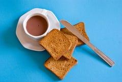 Déjeuner bleu Photos stock