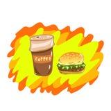 Déjeuner coloré et lumineux de vecteur illustration stock