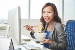 Déjeuner d'affaires Image libre de droits