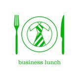 Déjeuner d'affaires d'icône illustration de vecteur