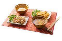 déjeuner d'affaires de 5 Asiatiques Photos libres de droits
