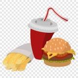 Déjeuner d'aliments de préparation rapide illustration libre de droits