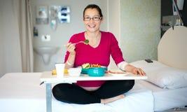 Déjeuner dans l'hôpital Image libre de droits