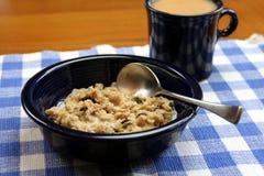 Déjeuner de farine d'avoine Photo stock