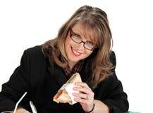 Déjeuner de femme d'affaires photographie stock