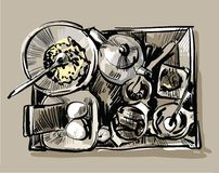 Déjeuner de fouille Photographie stock libre de droits