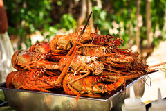 Déjeuner de homard Photographie stock