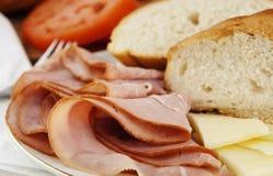 Déjeuner de jambon photographie stock