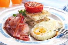 Déjeuner de lard et d'oeufs Photographie stock libre de droits