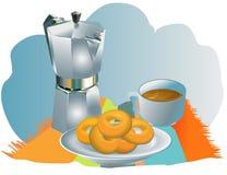 Déjeuner de matin illustration de vecteur