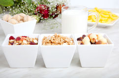 Déjeuner de nourriture biologique image stock