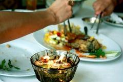 Déjeuner ensemble Photos stock