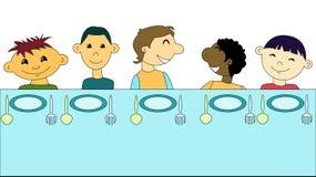 Déjeuner ensemble Image libre de droits