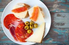 Déjeuner espagnol de tapas Image libre de droits
