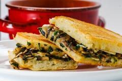 Déjeuner grillé de fromage Images libres de droits